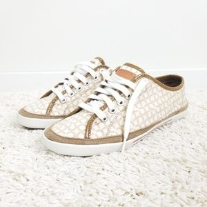 Coach Signature Logo Edith Sneakers Size 7.5